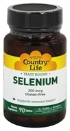 Country Life - Selenium Selenomethionine 200 mcg. - 90 Tablets