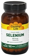 Country Life - Selenium L-Selenomethionine 100 mcg. - 180 Tablets, from category: Vitamins & Minerals