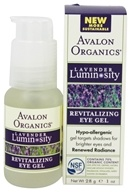 Avalon Organics - Lavender Luminosity Revitalizing Eye Gel Unscented - 1 oz. (654749353165)