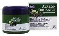 Avalon Organics - Brilliant Balance with Lavender & Probiotics Ultimate Night Cream - 2 oz. Formerly Lavender Luminosity