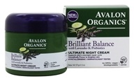 Avalon Organics - Lavender Luminosity Ultimate Night Cream - 2 oz. (Formerly Renewal & Vitality) - $11.65