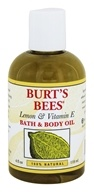 Image of Burt's Bees - Bath & Body Oil Lemon & Vitamin E - 4 oz.