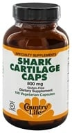 Country Life - Shark Cartilage Caps 800 mg. - 100 Vegetarian Capsules - $20.99