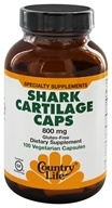Country Life - Shark Cartilage Caps 800 mg. - 100 Vegetarian Capsules by Country Life