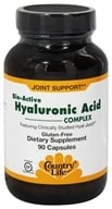 Country Life - Bio-Active Hyaluronic Acid Complex Featuring Clinically Proven Hyal-Joint - 90 Vegetarian Capsules