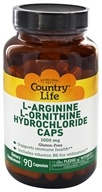 Country Life - L-Arginine L-Ornithine Hydrochloride Caps 1000 mg. - 90 Capsules