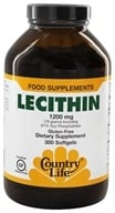 Country Life - Lecithin 1200 mg. - 300 Softgels by Country Life