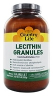 Country Life - Lecithin Granules Providing 97% Soy Phosphatides - 16 oz.