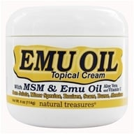 Image of BNG Enterprises - Emu Oil with MSM Topical Cream - 4 oz.