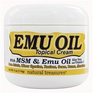 BNG Enterprises - Natureal Treasures Emu Oil with MSM Topical Cream - 4 oz.