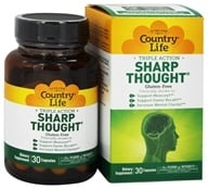 Country Life - Sharp Thought - 30 Capsules, from category: Nutritional Supplements