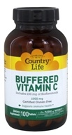 Country Life - Buffered Vitamin C Time Release Plus 150 mg of Bioflavanoids 1000 mg. - 100 Tablets (015794070610)