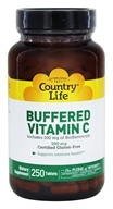 Country Life - Buffered Vitamin C Plus 100 mg of Bioflavonoids 500 mg. - 250 Tablets
