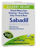Boiron - Sabadil Allergy Relief - 60 Tablets, from category: Homeopathy