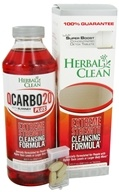 BNG Enterprises - Herbal Clean Qcarbo Detox Plus with Super Boost Strawberry- Mango Flavor - 20 oz., from category: Detoxification & Cleansing