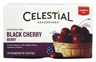 Image of Celestial Seasonings - Black Cherry Berry Herb Tea - 20 Tea Bags