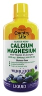Country Life - Liquid Target-Mins Calcium-Magnesium with Vitamin D3 Complex Natural Wild Blueberry Flavor - 32 oz. (015794025221)