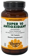 Country Life - Super 10 Antioxidant Formula Maximized Family Size - 120 Tablets - $29.39