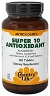 Country Life - Super 10 Antioxidant Formula Maximized Family Size - 120 Tablets, from category: Nutritional Supplements