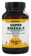 Image of Country Life - Super Omega-3 Concentrated Fish Body Oils 400 mg EPA/200 mg DHA - 60 Softgels