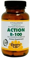 Country Life - Action B-100 Balanced B-Complex Super Potency - 100 Vegetarian Tablets - $11.99