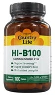 Country Life - Super Potency HI-B-100 Balanced B Complex Time Release - 100 Tablets - $13.19