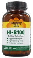 Country Life - Super Potency HI-B-100 Balanced B Complex Time Release - 100 Tablets, from category: Vitamins & Minerals