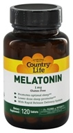 Country Life - Melatonin 1 mg. - 120 Tablets Formerly Biochem by Country Life