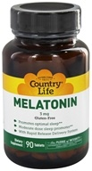 Country Life - Melatonin Rapid Release 3 mg. - 90 Tablets Formerly Biochem by Country Life