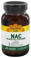 Country Life - NAC (N-Acetyl Cysteine) 750 mg. - 60 Vegetarian Capsules Formerly Biochem by Country Life