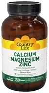 Country Life - Calcium Magnesium Zinc with L-Glutamic Acid - 250 Tablets