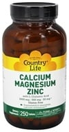 Country Life - Calcium Magnesium Zinc with L-Glutamic Acid - 250 Tablets (015794026044)