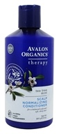 Avalon Organics - Conditioner Scalp Normalizing Therapy Tea Tree Mint - 14 oz. Formerly ...