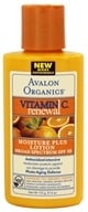 Image of Avalon Organics - Vitamin C Renewal Moisture Plus Lotion Broad Spectrum 15 SPF - 4 oz. (Formerly Skin Nourishing Sun-Aging Defense)