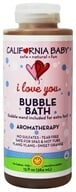 California Baby - Aromatherapy Bubble Bath With Two Bubble Wands I Love You - 13 oz.