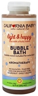 California Baby - Aromatherapy Bubble Bath With Bubble Wand Light & Happy - 13 oz. (792692000573)