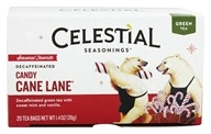 Celestial Seasonings - Candy Cane Lane Holiday Decaf Green Tea - 20 Tea Bags