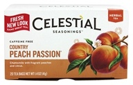 Celestial Seasonings - Herbal Tea Caffeine Free Country Peach Passion - 20 Tea Bags by Celestial Seasonings