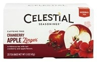 Celestial Seasonings - Cranberry Apple Zinger Herb Tea Caffeine Free - 20 Tea Bags