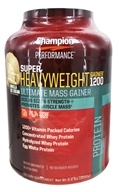 Champion Performance - Super Heavyweight Gainer 1200 Ultimate Mass Gainer Vanilla Ice Cream - 6.6 lbs.