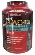 Champion Performance - Super Heavyweight Gainer 1200 Ultimate Mass Gainer Chocolate Brownie - 6.6 lbs.