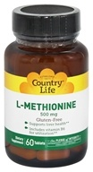 Country Life - L-Methionine Free Form Amino Acid Supplement with B6 500 mg. - 60 Tablets
