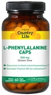 Country Life - L-Phenylalanine Caps Essential Free-Form Amino Acid with Vitamin B-6 500 mg. - 60 Vegetarian Capsules