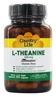 Country Life - L-Theanine Suntheanine Amino Acid - 60 Vegetarian Capsules (015794014126)
