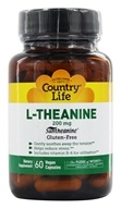 L-théanine suntheanine acide aminé - 60 Vegetarian Capsules by Country Life