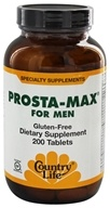 Country Life - Prosta-Max for Men - 200 Tablets Formerly Biochem by Country Life