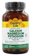 Image of Country Life - Target-Mins Calcium Magnesium Potassium - 90 Tablets