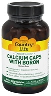 Country Life - Target-Mins Calcium Caps with Boron - 90 Vegetarian Capsules