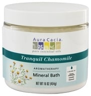 Aura Cacia - Aromatherapy Mineral Bath Tranquil Chamomile - 16 oz. (formerly Tranquility), from category: Aromatherapy