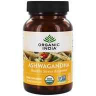 Image of Organic India - Ashwagandha Relieves Stress & Builds Vitality - 90 Vegetarian Capsules